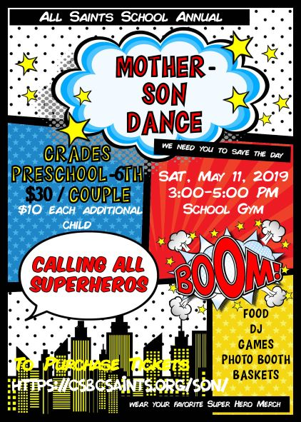 Mother Son Dance 2019 graphic - Mother Son Dance