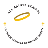 all saints school catholic school broome county logo - PLTW