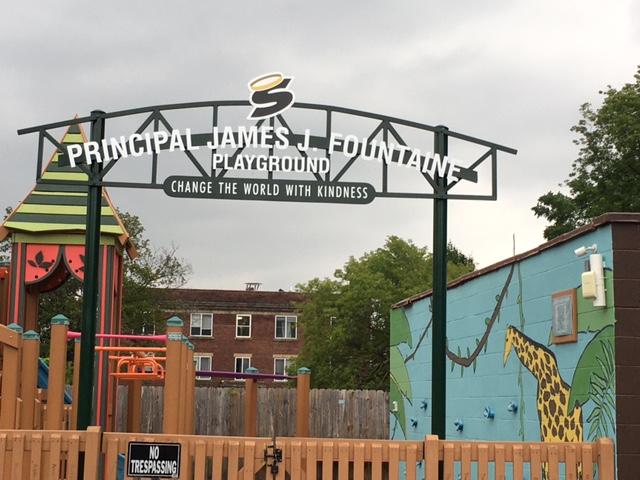 fountaine playground - Saints on the Go