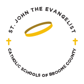 st john the evangelist catholic school broome county logo - About SCC
