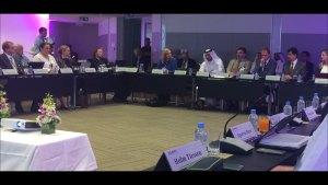 Dr. Hamad Al Ibrahim, Executive VP of Qatar Foundation Research and Development, Addresses Members - Source: von Hackwitz, Kim. Dr. Hamad Al Ibrahim, Executive VP of Qatar Foundation Research and Development, Addresses Members. Digital Image. Erica Key LinkedIn Page, 2016
