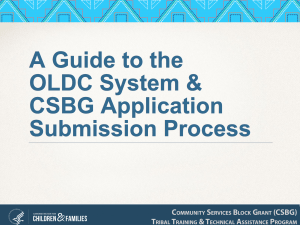 A Guide to the OLDC System & CSBG Application Submission Process Slide