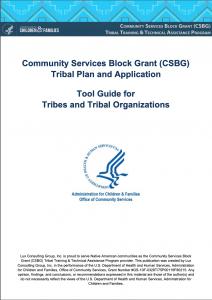 CSBG FY21 Tribal Plan & Application Tool Guide
