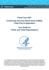 FY21 Tribal Plan & Application Tool Guide Cover Image