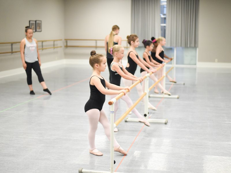 Ballet Technique Class at an exceptional midwest U.S. Dance Intensive