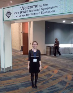 Cobb '12 at SIGCSE