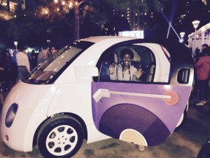 Alexus in a Google car