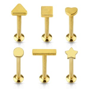 Anodized Yellow Gold Internally Threaded Posts