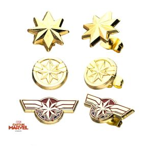 Captain Marvel – 3 Pairs of Earrings Set