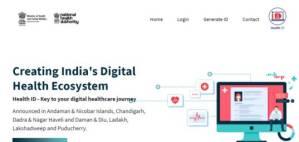 NHA One Nation One Health ID Website