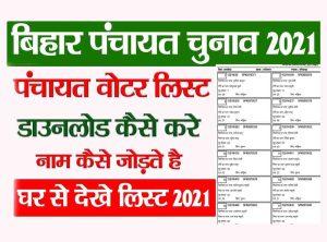 Bihar Panchayat Chunav List 2021