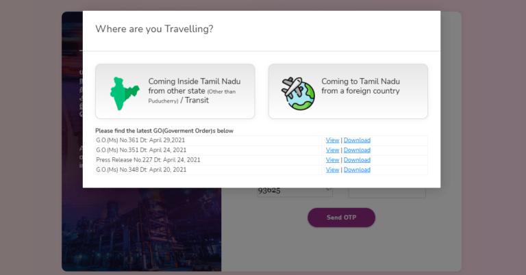 tamil nadu travel pass