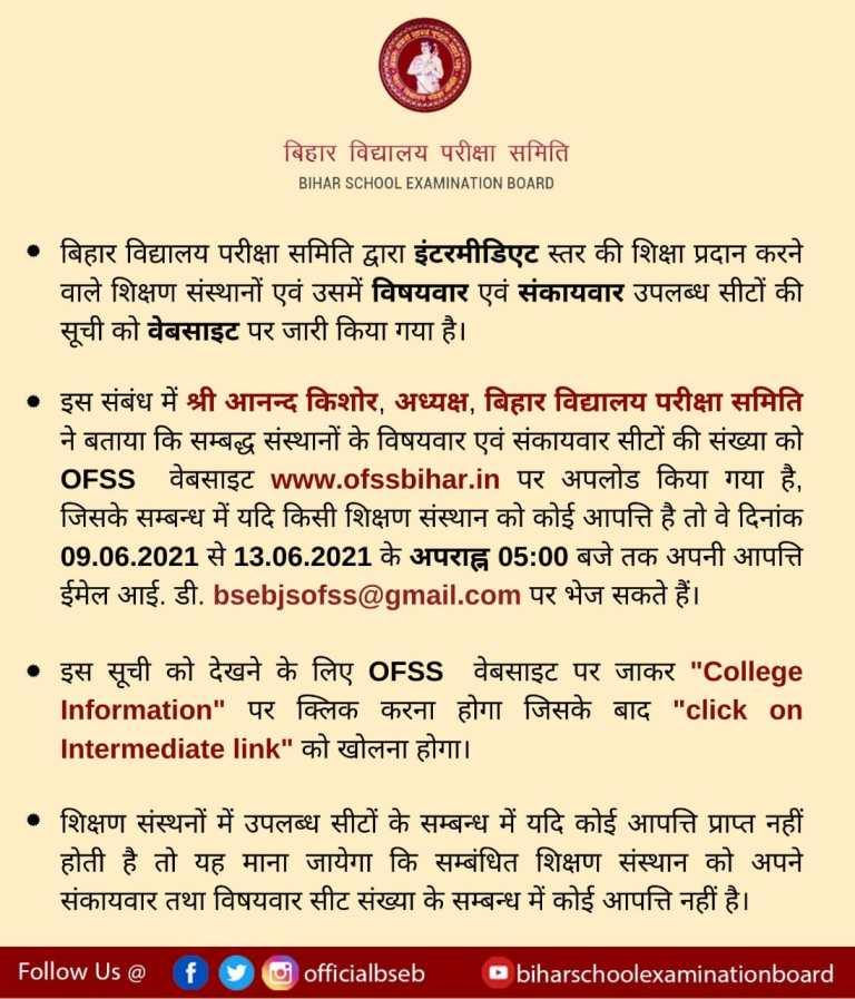 Bihar Board Intermediate Admission
