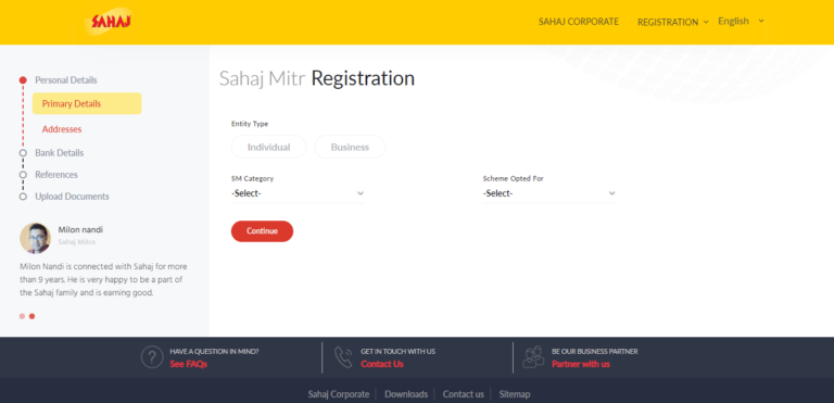 Sahaj Portal Toll Free