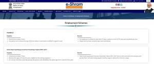 eshram portal Employment Schemes