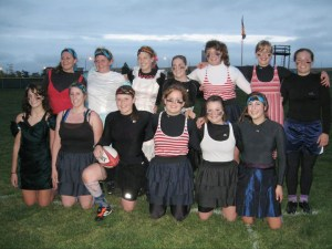 The Chadron State rugby team at October's Prom Dress scrimmage. — Photo courtesy of Bob Nelson