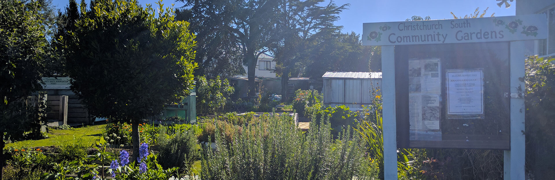 view of christchurch south community gardens