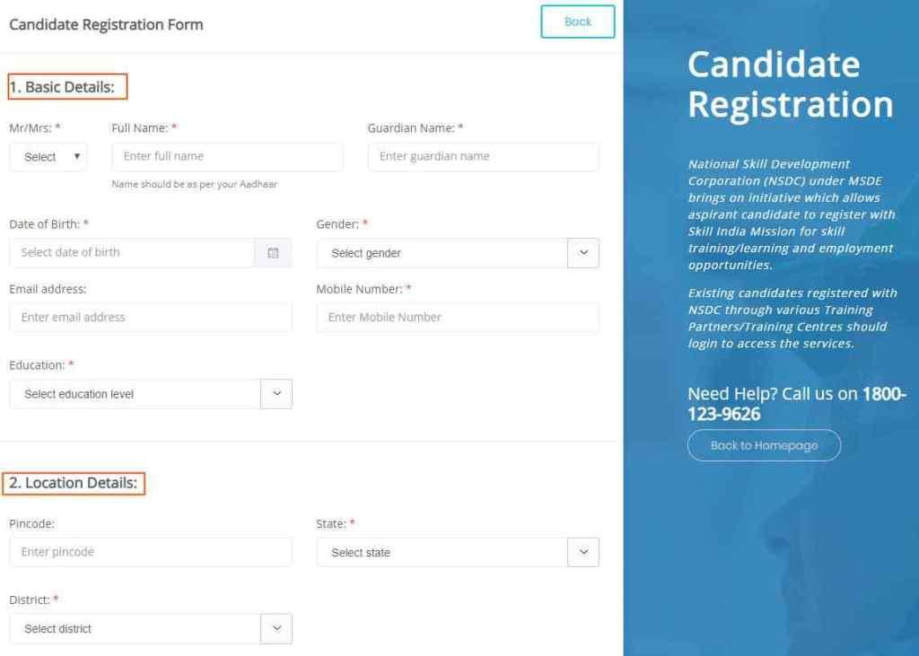 smart pmkvy Registration