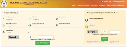 Pmjay Hospital Empanelment Online Application Form