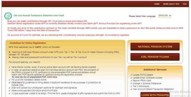 Atal Pension Yojana NPS