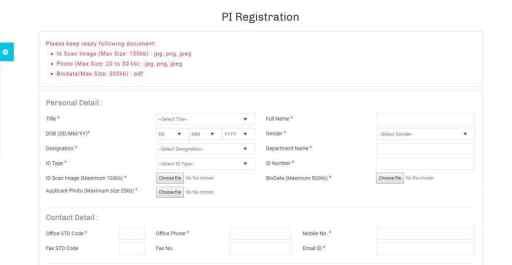 Satyabhama Portal Registration Form