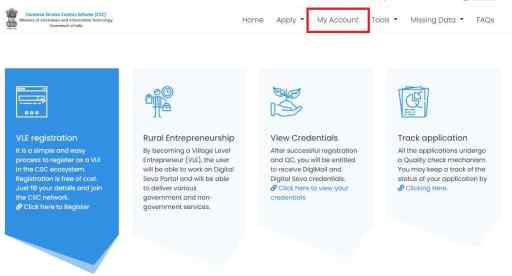 register.csc.gov.in portal