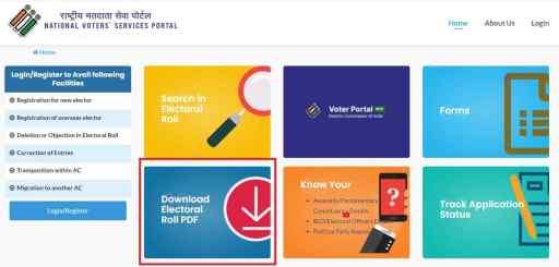 NVSP Download Electoral Roll