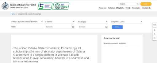 ODISHA SCHOLARSHIP Portal ONLINE Registration