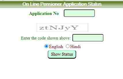 Old Age Pension status check online