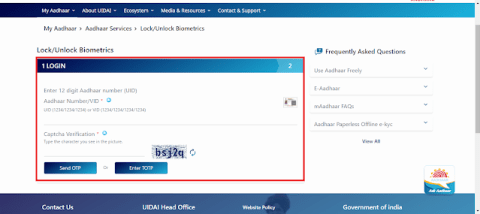 Aadhaar Biometric Unlock
