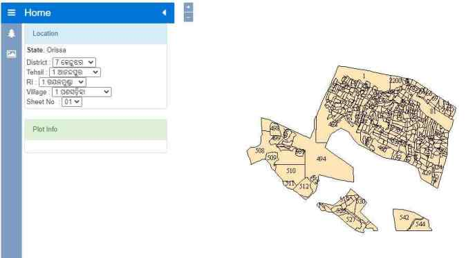 odisha bhulekh map online