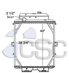 kenworth radiator 619ra007 [ 927 x 1200 Pixel ]