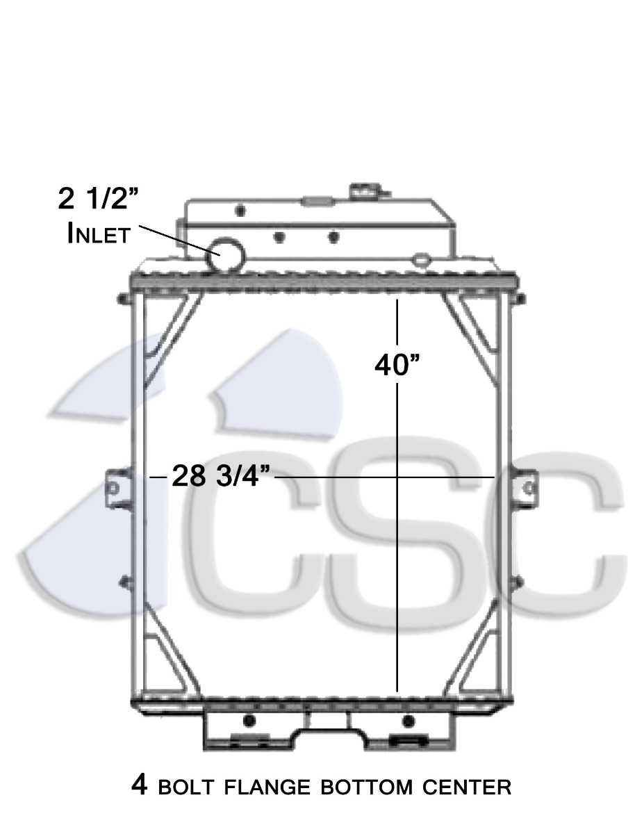 hight resolution of kenworth radiator 619ra007