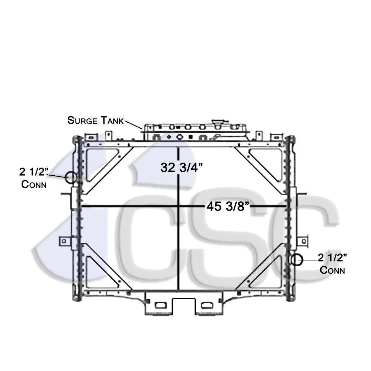 hight resolution of kenworth radiator 619ra023