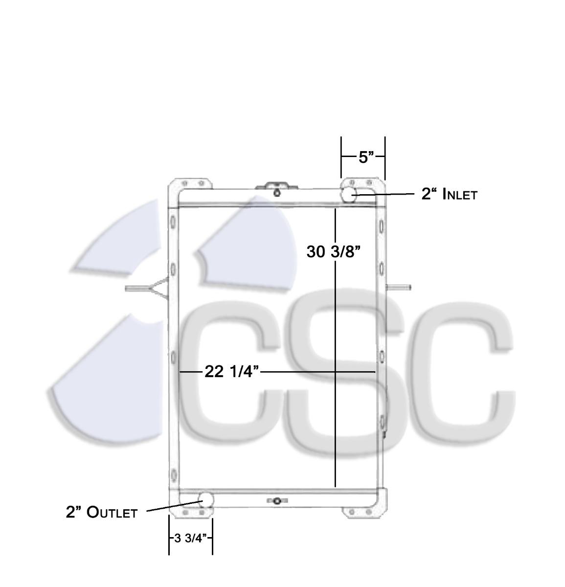 hight resolution of mack radiator 621ra004