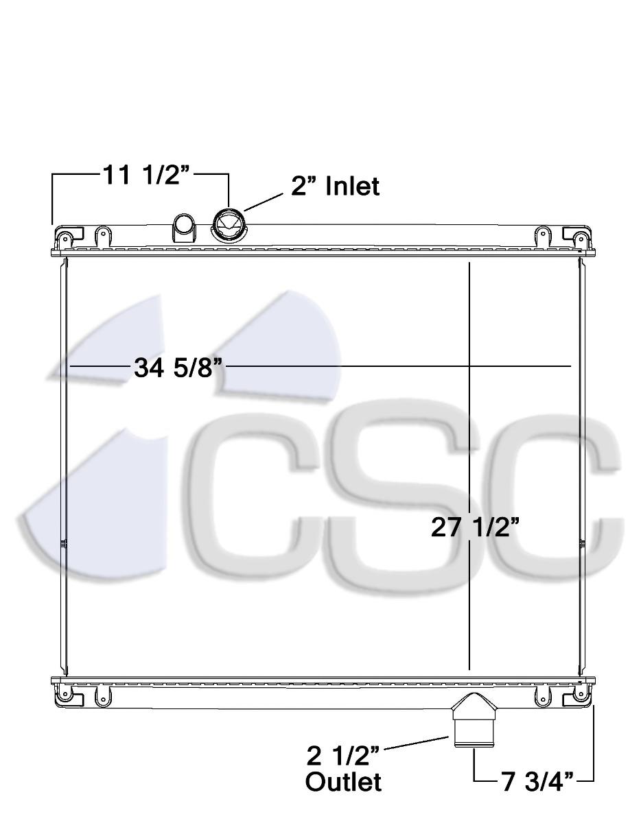 hight resolution of mack radiator 621ra007