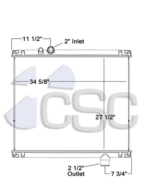 small resolution of mack radiator 621ra007