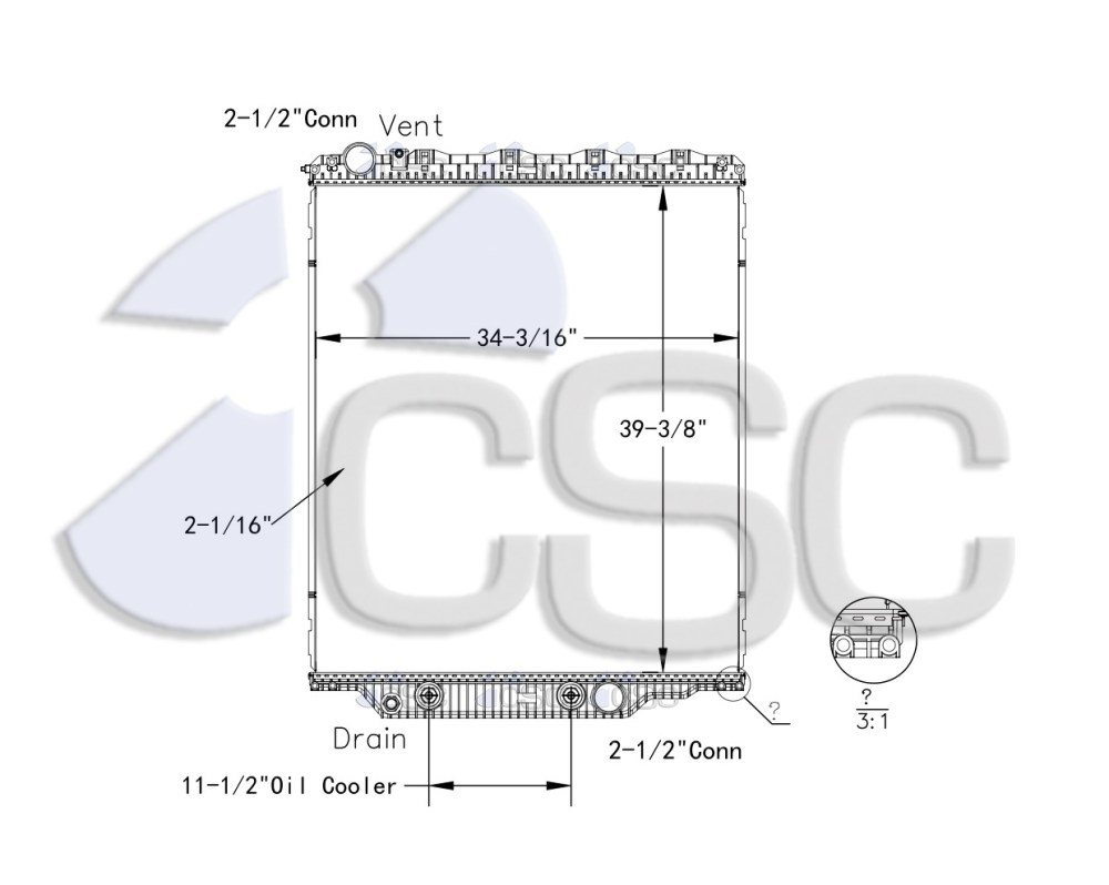 medium resolution of volvo mack radiator 621ra018orf