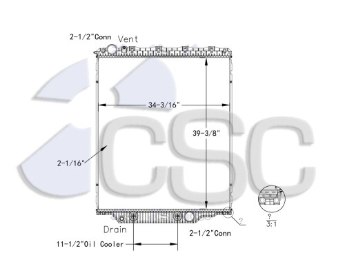 small resolution of volvo mack radiator 621ra018orf