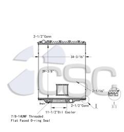 mack volvo radiator 621ra026orf [ 1240 x 1142 Pixel ]