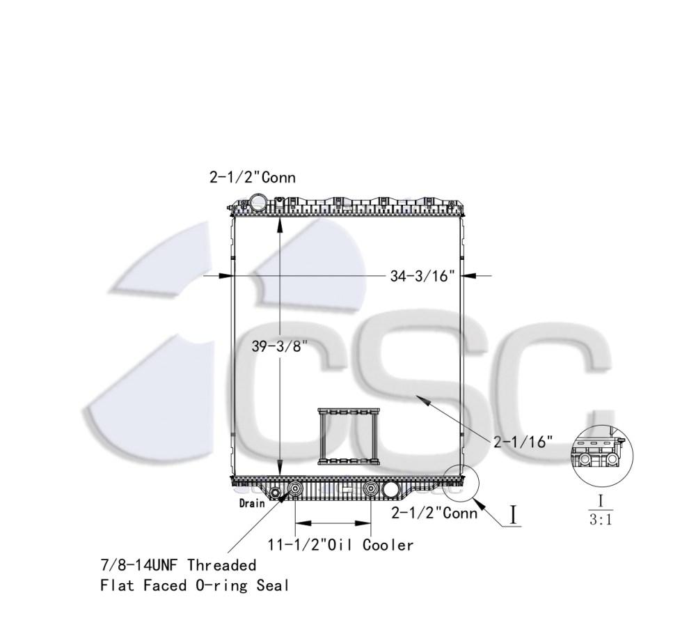 medium resolution of mack volvo radiator 621ra026orf