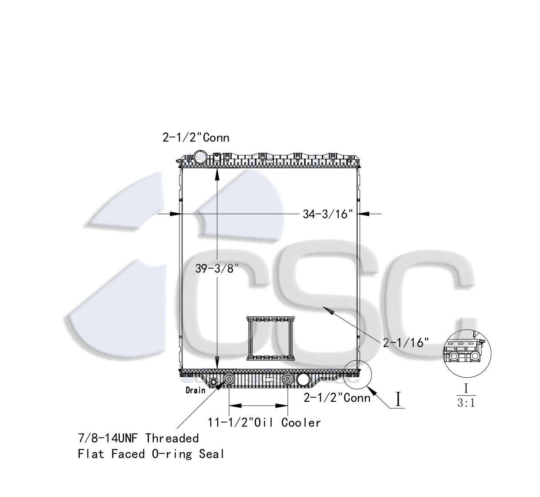 hight resolution of mack volvo radiator 621ra026orf