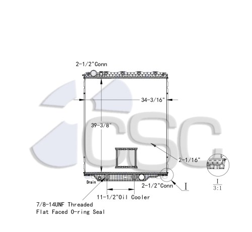 small resolution of mack volvo radiator 621ra026orf