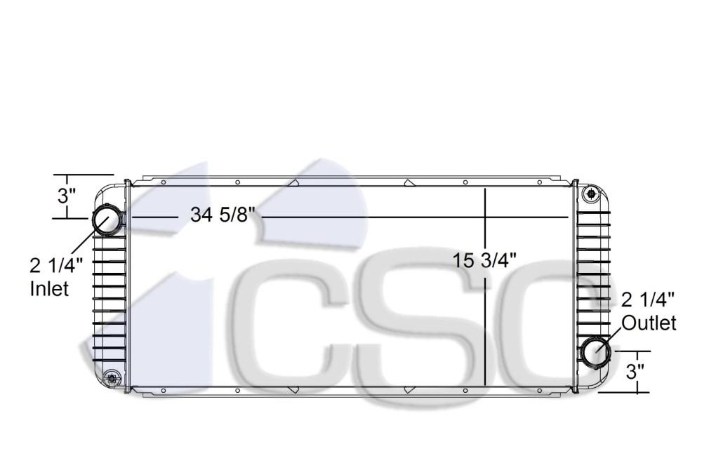 medium resolution of kenworth peterbilt radiator 633ra005
