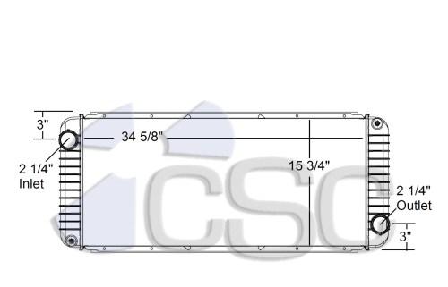 small resolution of kenworth peterbilt radiator 633ra005