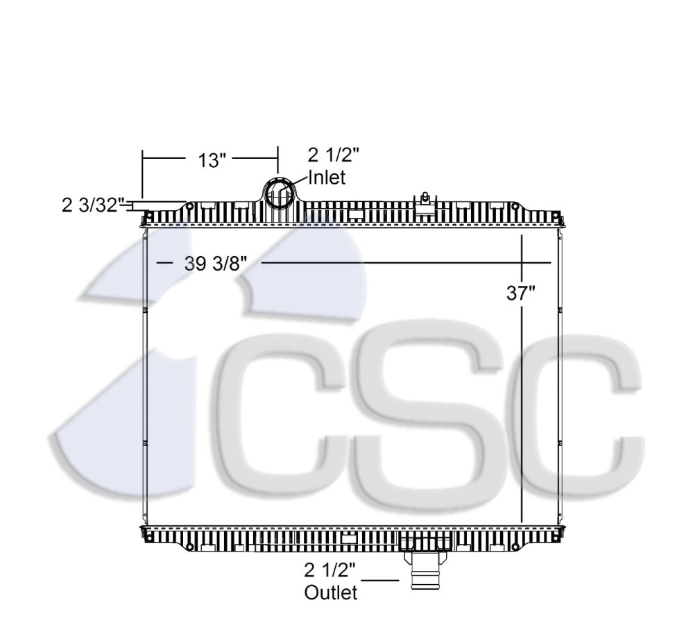 medium resolution of kenworth peterbilt radiator 633ra016