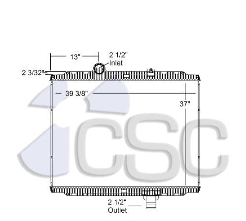 small resolution of kenworth peterbilt radiator 633ra016