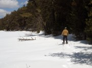 Joe explores further along the lakeshore.
