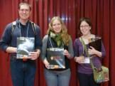 Graduate fellows Pete Gizyn, Jaime Bunting, and Rebecca Deatsman (me).