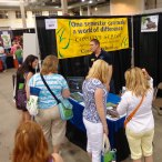Pete Gizyn in the booth at Green Festival Chicago